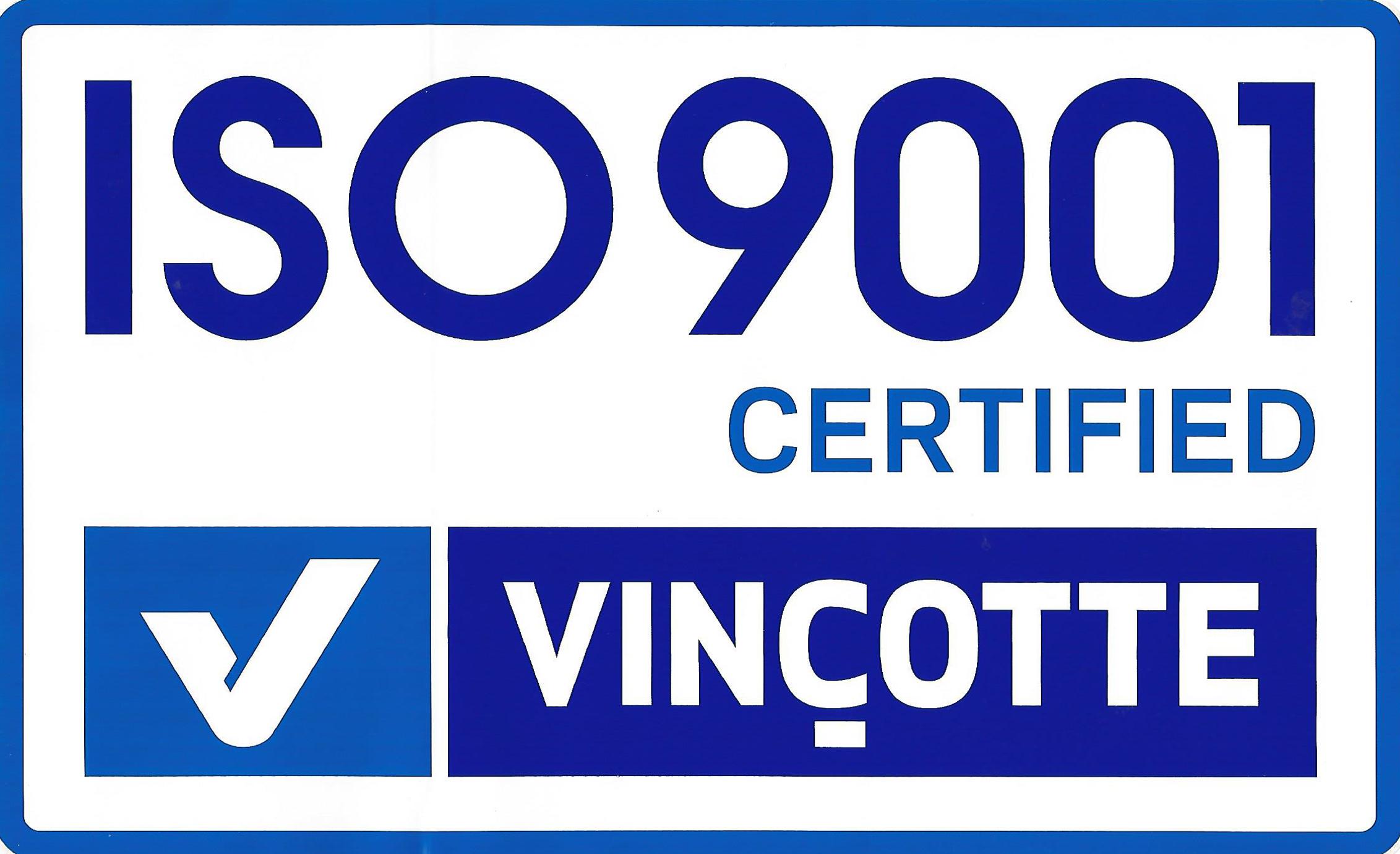 ISO 9001 Vinçotte